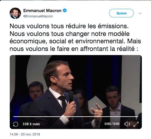 #Factcheck #Macron  En 3 semaines  1⃣ Autorisation de forages pour @Total en Guyane  2⃣ Niches fiscales confirmées pour #Kérosène & co  3⃣ Division par 2 du crédit d'impôt pour la transition énergétique (CITE)   4⃣ Désaffectation de 600 M€ de  du #TICPEbudget Ecologie  BRAVO