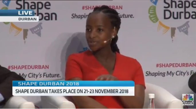 [ON AIR] #ShapeDurban: 'Young people are interested in assisting to drive this city forward' - Mandisa Ntombela (Global Shapers, Durban Hub) speaks on the role of young people in the business development of Durban. @DBNGlobalShaper #CNBCAfrica