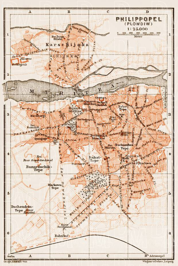Fun With Maps On Twitter Map Of Plovdiv Bulgaria In 1914