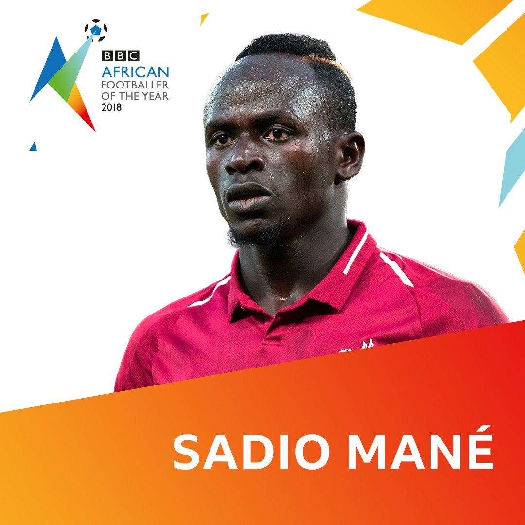 Senegal and Liverpool forward Sadio Mane is one of five nominees for the BBC African Footballer of the Year award 2018 Find out more 👉 bit.ly/2DIxOOx #BBCAFOTY