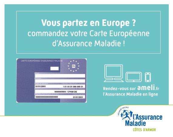 Carte Europeenne Dassurance Maladie Imprimer.Cpam Cotes D Armor On Twitter Vous Participez A Un Voyage