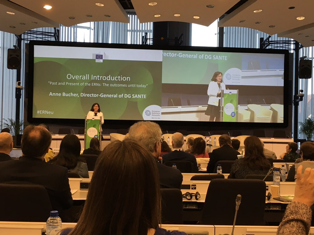 Ms. Anne Bucher, Director-General of #DGSANTE at the #ERNeu, #ERNs like start ups and an opportunity for the future