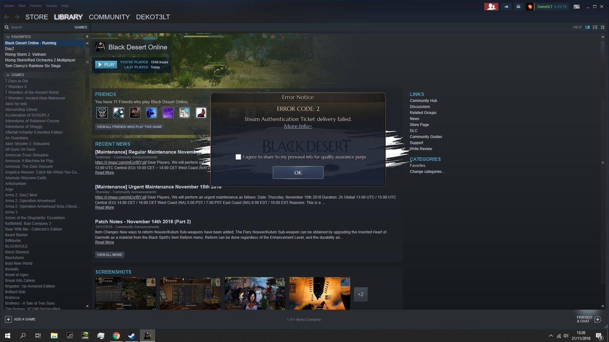 Black Desert Online Steam Cant Login | Pwner