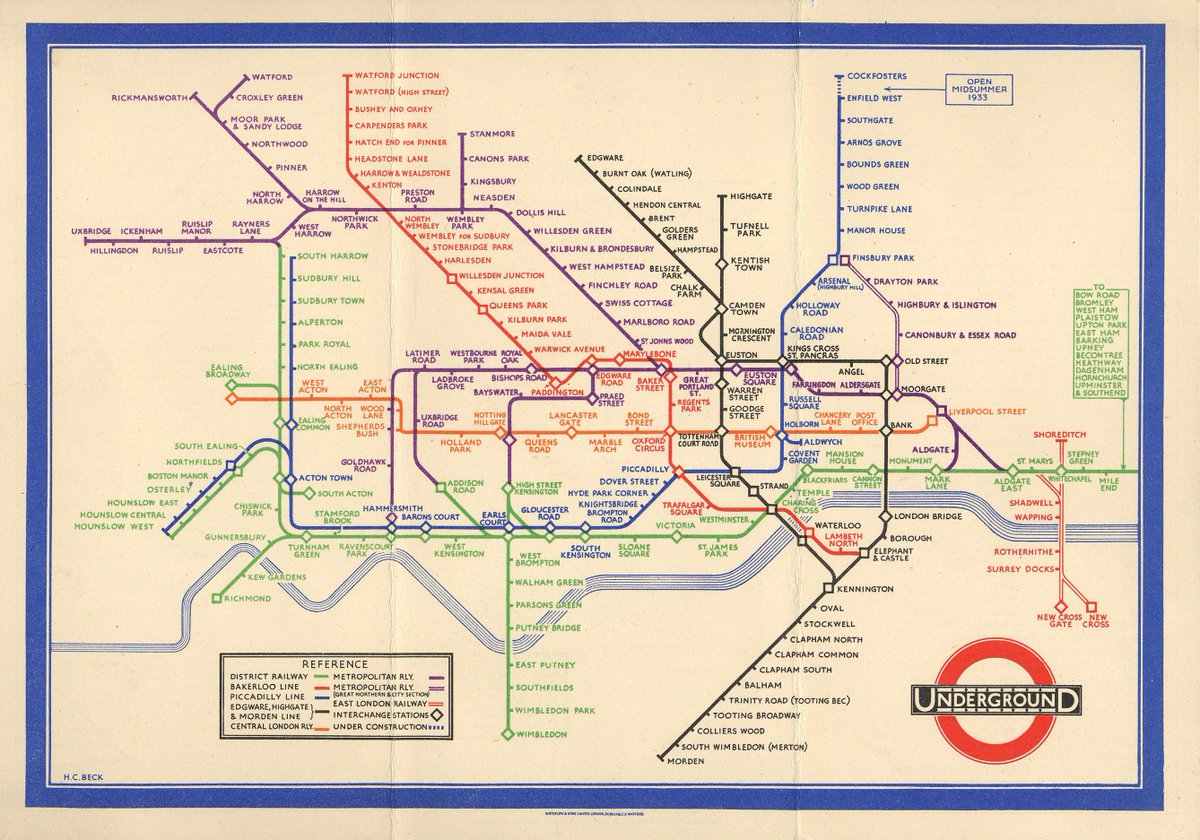 Simplified Map Of London.Alice Rawsthorn On Twitter Frank Pick 3 By Sacrificing