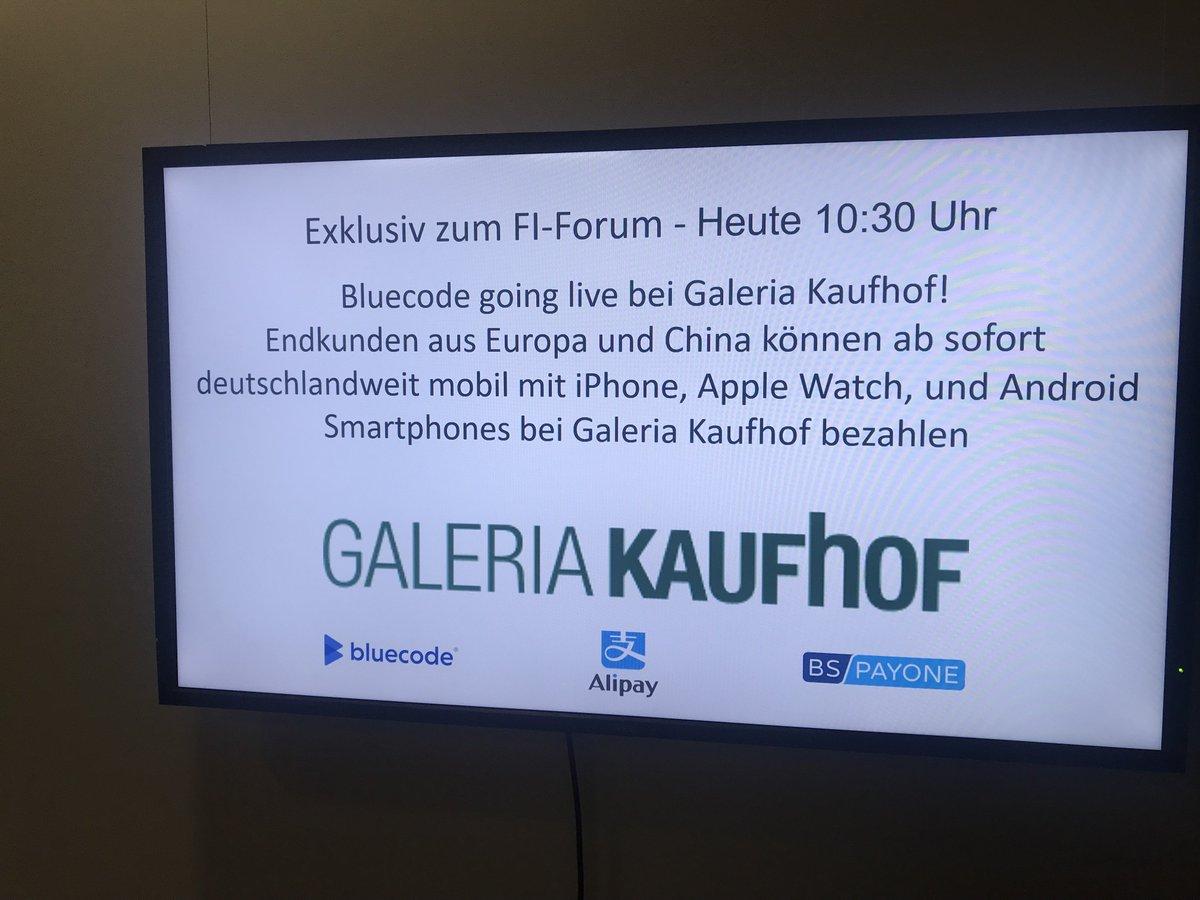 c84b9acfb5d32 ... aus Europa und China deutschlandweit mit #Bluecode und #Alipay mobil  via iPhone, Apple Watch und Android-Smartphones bei @galeriakaufhof  bezahlen!