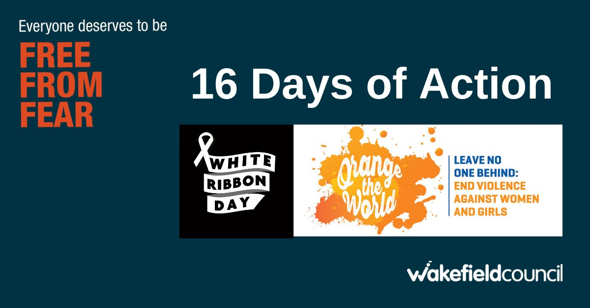Today is the International Day for the Elimination of Violence Against Women and Girls, White Ribbon Day AND the start of 16 Days of Action against domestic abuse.  Look out for #freefromfear as we support these important campaigns  #WhiteRibbon #16days #orangetheworld