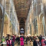 Image for the Tweet beginning: Record attendance at @Ely_Cathedral for