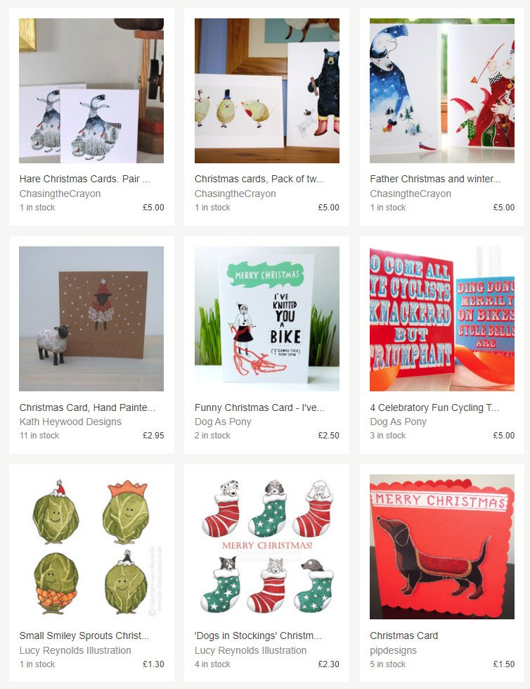 I'm really happy to find I've been included in Folksy&#39;s Christmas Cards #GiftGuide with my smiley sprouts &amp; dogs in stockings. It&#39;s a guide full of work by individual artists:  https:// folksy.com/themes/best-ch ristmas-cards &nbsp; …   #FolksySellers #ChristmasGiftGuide #ShopIndie #ElevensesHour #DogChristmasCard <br>http://pic.twitter.com/L8kZPOjPA9