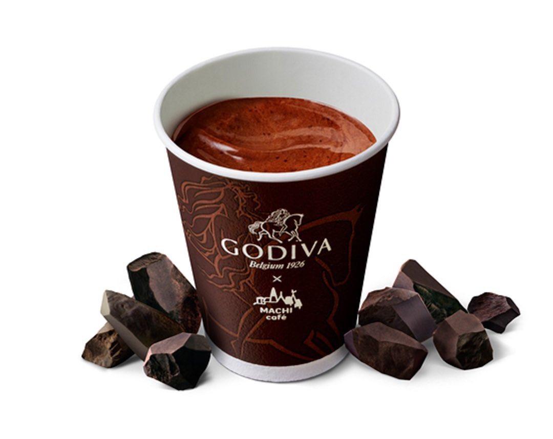 11月27日よりローソンからGODIVAとのコラボ初となるドリンクタイプのホットチョコレート『MACHI café×GODIVA ホットチョコレート』と『フォンダンショコラ』、『ショコラミルフィーユ』が新発売されます✨