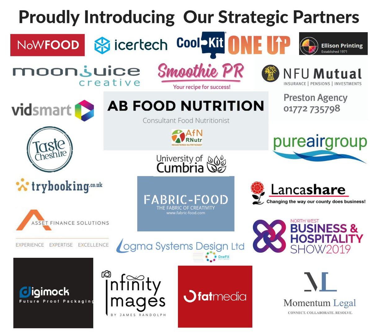 Meet our 23 latest Strategic Partners - a #collaboration of companies we feel can help your business #grow from strength to strength #fdmb #Lancashire #Manchester #Merseyside #Cumbria #Cheshire #northwales #foodanddrink #supplychain #strength