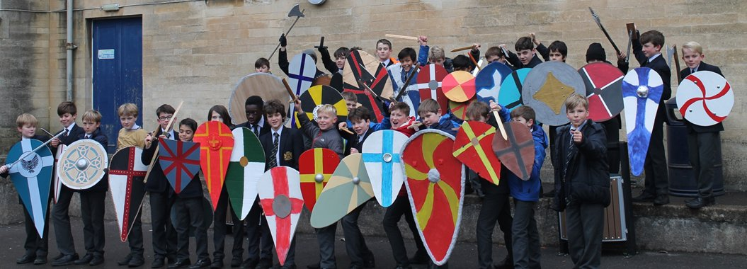 Many thanks from all the boys to parents who helped them make the shields for the annual round of Battles of Hastings.  They are impressive.  Just in case you hadn't heard ........ the Normans won (again!) and Harold came a cropper!