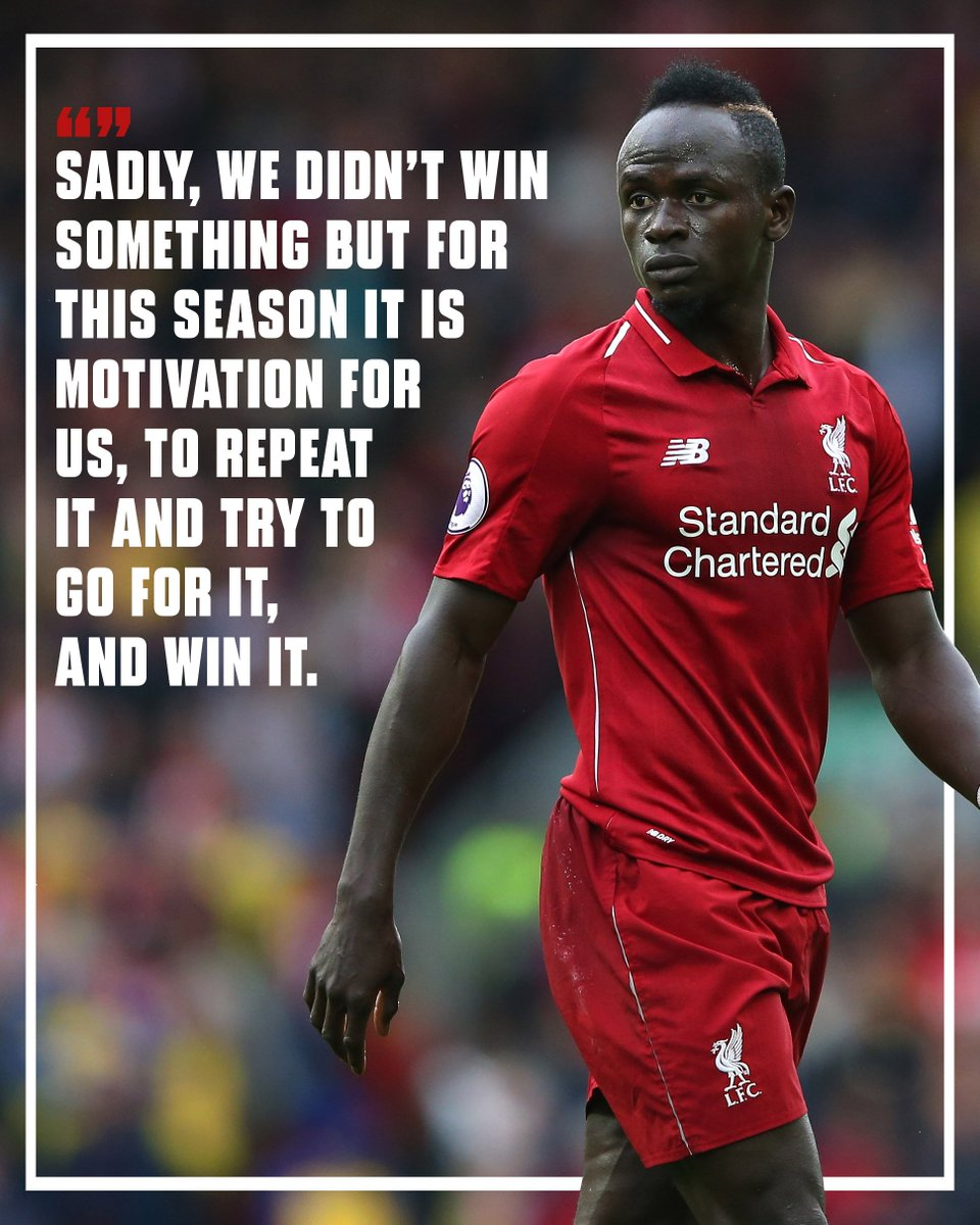 Sadio Mane has revealed how #LFCs disappointment at the end of last season is being used for good this term. 👊 bit.ly/2TxVb1K