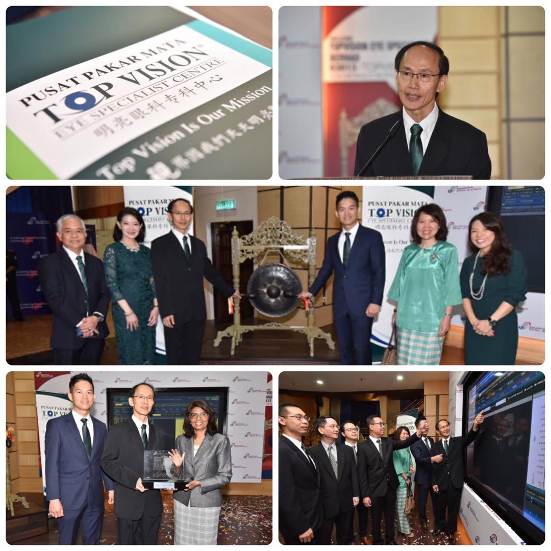 f2ed5ffacba Congratulations to Topvision Eye Specialist Bhd on its sterling debut with  more than 27% premium over its IPO price on the LEAP Market of Bursa this  morning ...