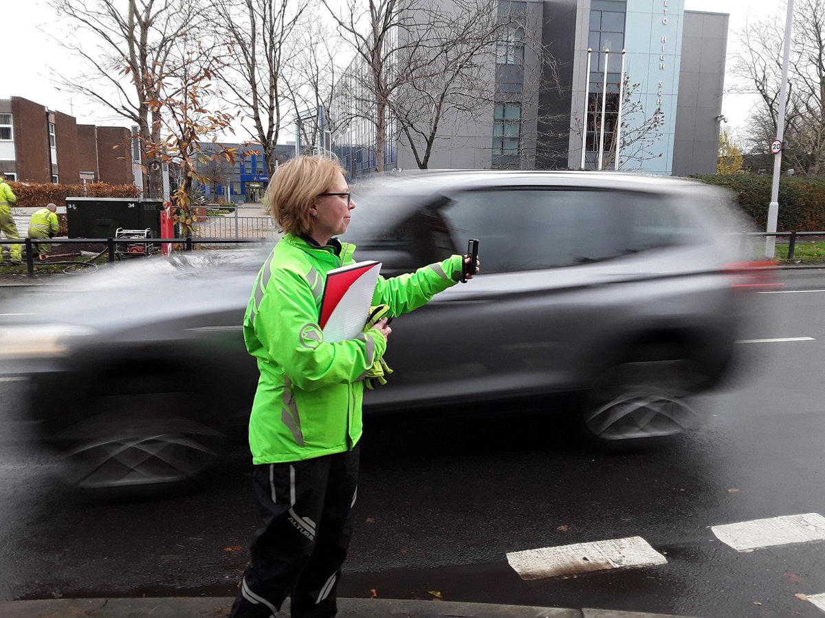 Many drivers on Nell Lane driving faster than 20mph limit - top speed was 38mph. Every week a child dies in a road traffic accident - 72% of the time its on their way to or from school. #killyourspeed #McrRoadSafety @ManCityCouncil