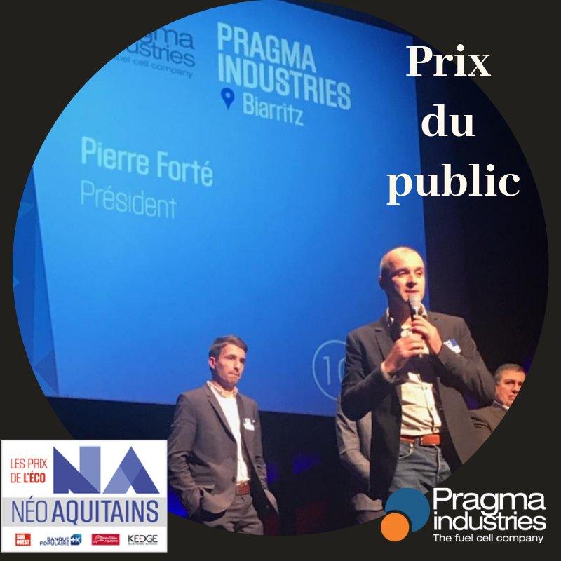 Lors de la soirée #prixneoaquitains au casino de Biarritz @PragmaFuelCells a reçu le Prix du public. @NvelleAquitaine #Hydrogen #fuelcell #ecomobilite #EnergyTransition #H2Mobility #H2Now