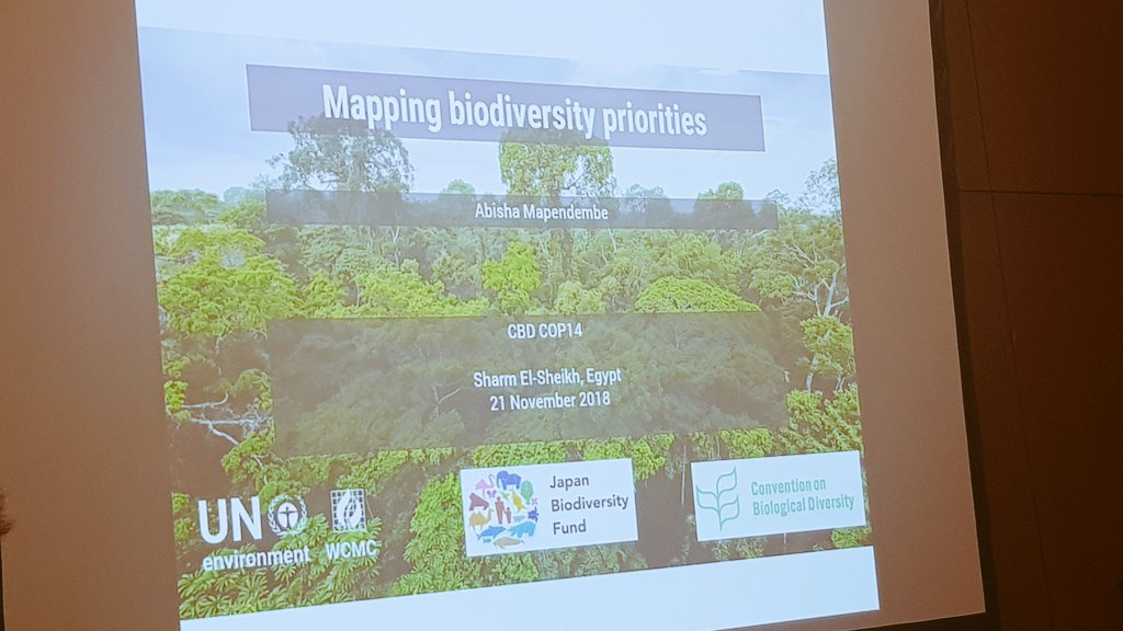 Mapping #biodiversity priorities in #Malawi, #Botswana & #Ethiopia  Discussing mainstreaming biodiversity in #Africa at #COP14 #EgyptCOP14