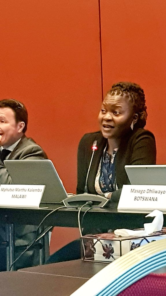 Mphatso Martha Kalemba from #Malawi presenting their experiences in #biodiversity mapping using the UNA methodology as support #COP14 #EgyptCOP14 #UNARivers #UNACoasts