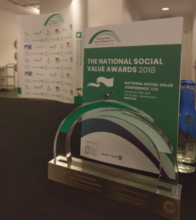 We are extremely proud to have received a Social Value Award at #nsvc2018. The award recognises our efforts to give back to the communities in which we work. @Scape_Group @PerthandKinross #teamscape