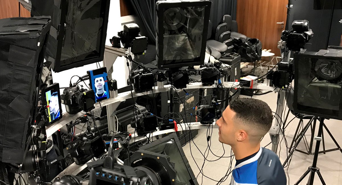 #BehindTheScenes 📸: Este fue el proceso de digitalización que hizo @EASPORTSFIFA de nuestro jugador internacional @mariohermoso5 para #FIFA19 durante la pasada temporada, y por el que pasaron todos los jugadores del #RCDE 🤩 ¡Muy pronto, más fotos 👌! #eSports #Volem