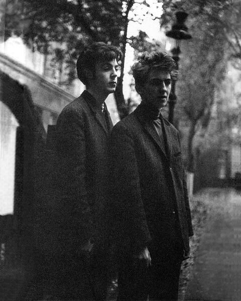 Today in 1960, George Harrison was deported from Germany because he was underage (he was a mere boy of 17) and wasn't allowed to perform with the Beatles in the clubs in Hamburg. Photo with Paul McCartney by Astrid Kircherr.