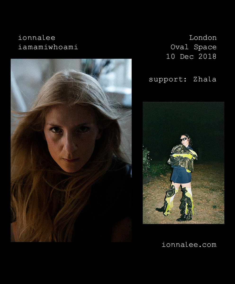 So excited to be supporting this magic @ionnalee with a DJ set at @OvalSpace, London on the 10th of December! #Iam #alicornsunite 🌚🌝 Tickets available here:  https://Zhala.lnk.to/OVAL10-12TW