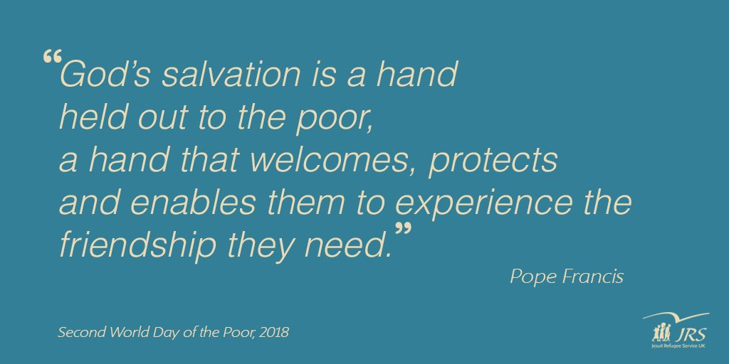 fca7a7ec2fea1 Following the Second World Day of the Poor, @nickhanrahan64 reflects on  Pope Francis' message and the challenge he sets us.