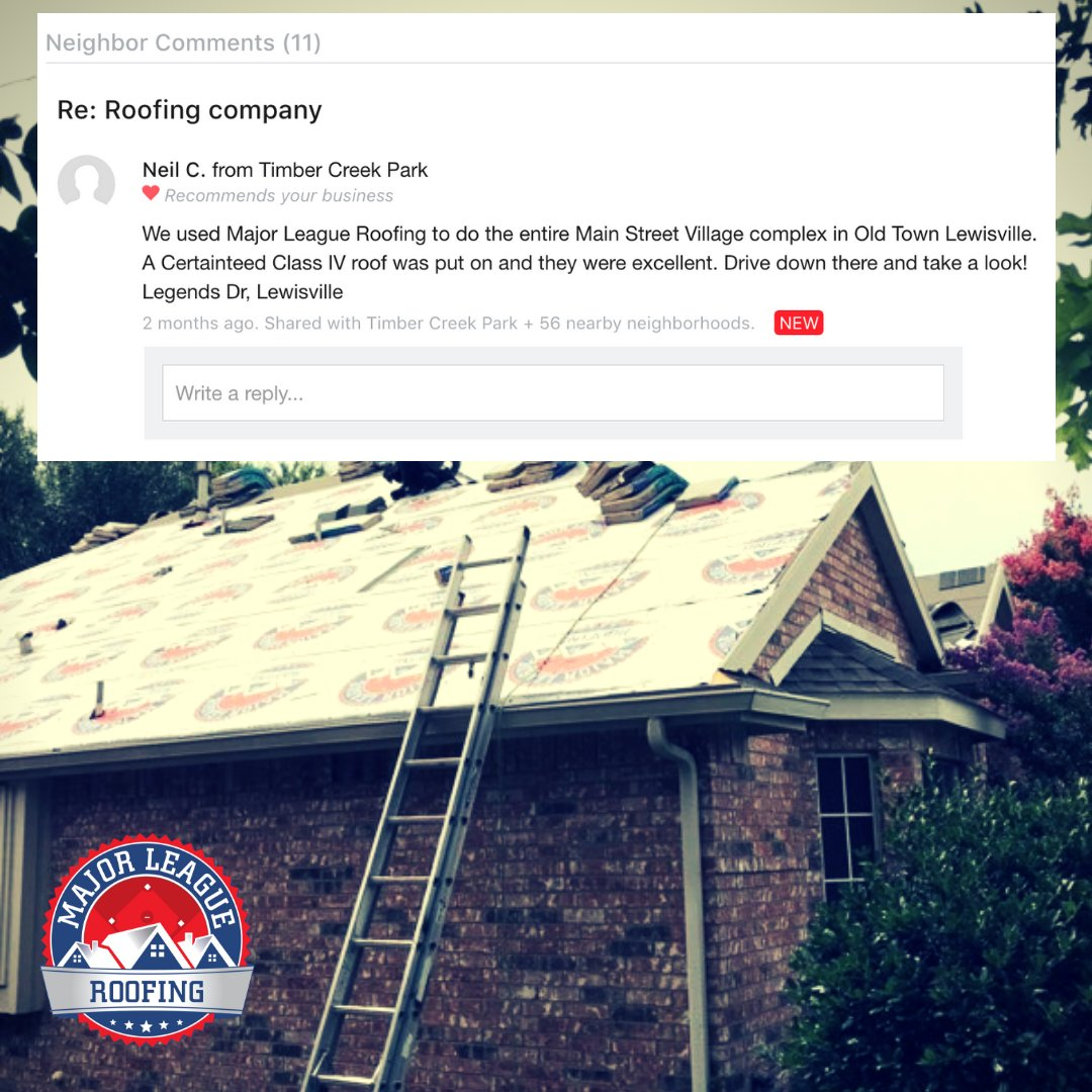 Major League Roofing on Twitter: