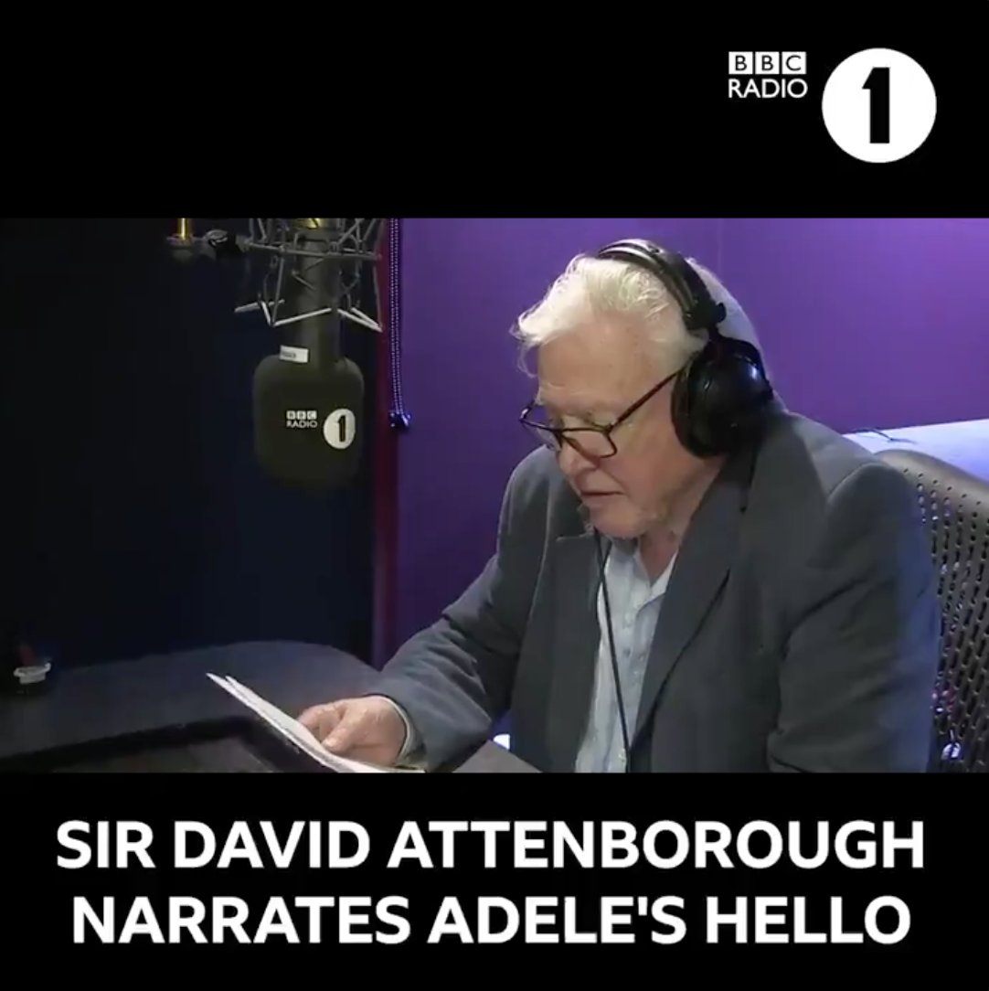 This video of Sir David Attenborough narrating @Adeles Hello feels appropriate for #WorldHelloDay.