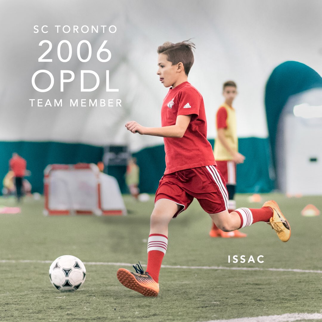 Congratulations Issac for earning a spot on the 2006 SC Toronto OPDL Team #SupportLocalFootball #Toronto #2006Boys  #SCToronto #TorontoSoccer #SoccerInTheSix #OPDL #OntarioSoccer #PlayInspireUnite #Football #Soccer #Canada2026 #TheBeautifulGame