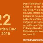 #Emissionen von #Kohlekraftwerke zerstören nicht nur Klima & Umwelt, sondern belasten auch die Menschen: 2016 beliefen sich die Kosten für gesundheitsschädliche Folgen EU-weit auf 22 Mrd. Euro. Es gibt daher nur einen Weg: #energiewendebeschleunigen und #kohlefrei AB