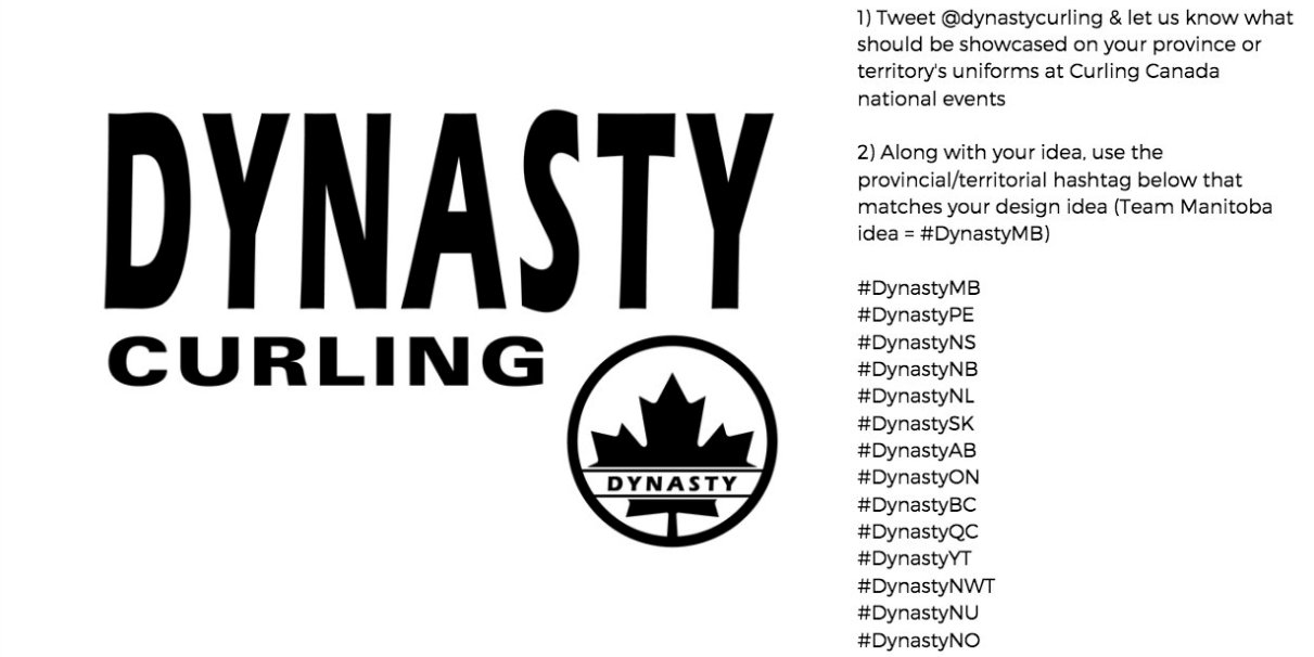 8d82a967 @DynastyCurling (our Official Uniform Partner) is looking for YOUR ideas on  what to showcase on apparel that best represents the provinces &  territories of ...