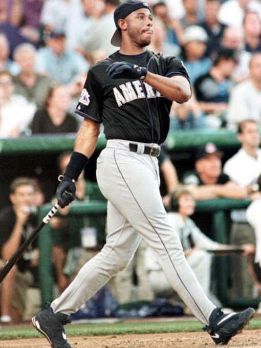 Happy Birthday to \The Kid\ Ken Griffey Jr., who is 49 years young today! I dare you to name a sweeter swing!