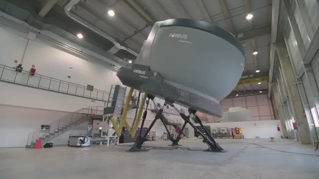 Airbus has inaugurated its Full Flight Simulator (FFS) to support the training of crews on the #A330MRTT the Multi Role Tanker Transport in Airbus International Training Centre (ITC) in Seville 🇪🇸.