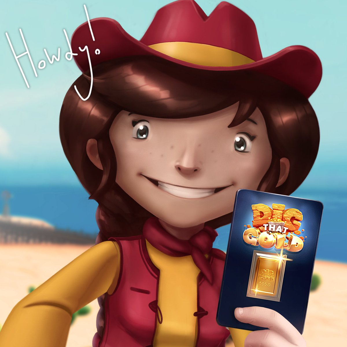Say hello to Dixie and her very own 24K Gold Bar! It's #WorldHelloDay! However, she would like y'all to know that most Real Gold Miner's say Howdy partner… #HowdyDay?