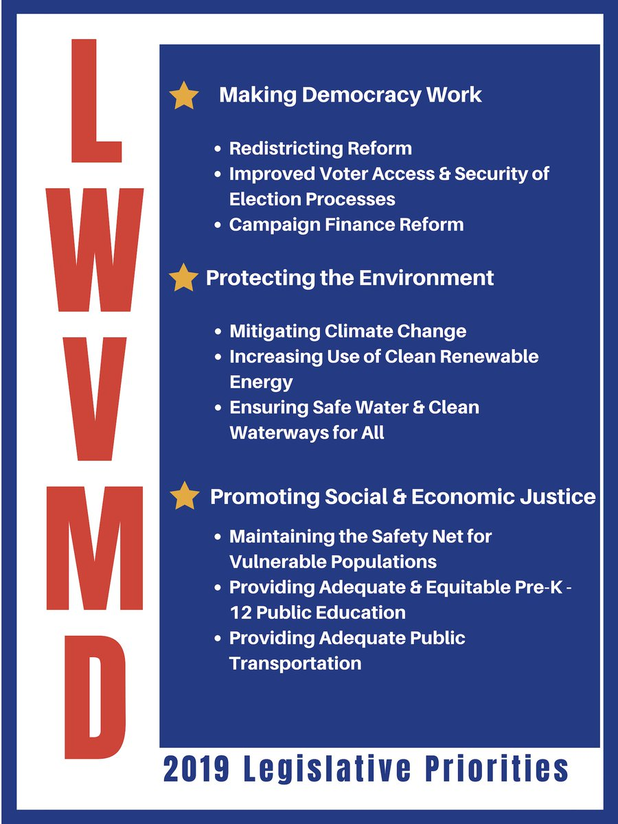 Legislative Action Alert Act To Provide >> Lwv Of Maryland On Twitter The Lwvmd Board Has Announced Our 2019