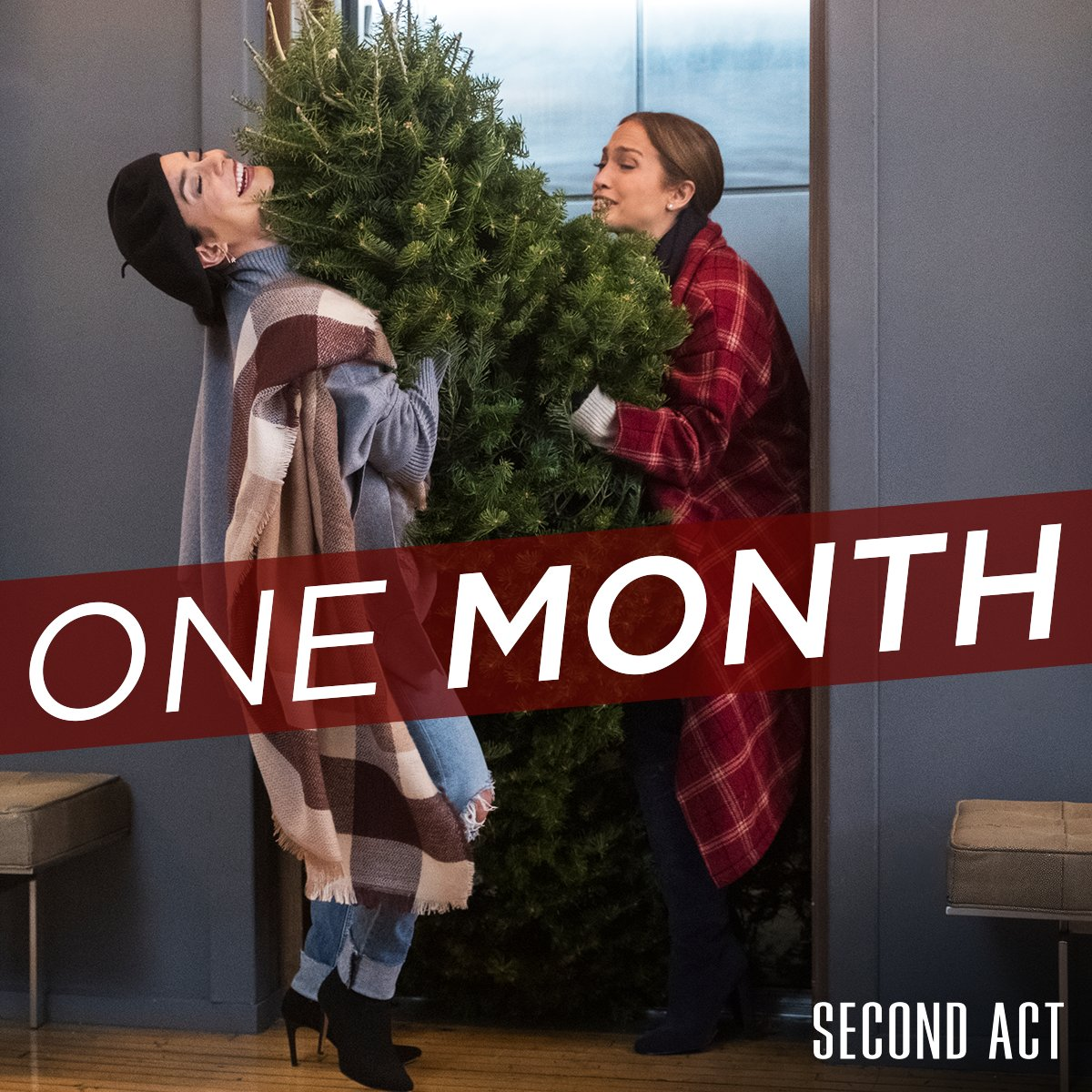 The countdown is on! Tag the friends who you're bringing to see #SecondAct in ONE MONTH!