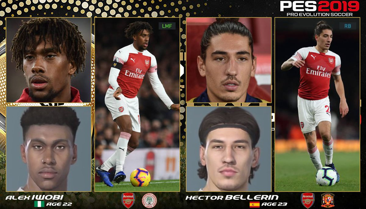 Pes 2021 Face Suggestions On Twitter Premier League Face Suggestions 1 Alex Iwobi Hector Bellerin Emile Smith Rowe Eddie Nketiah Konstantinos Mavropanos