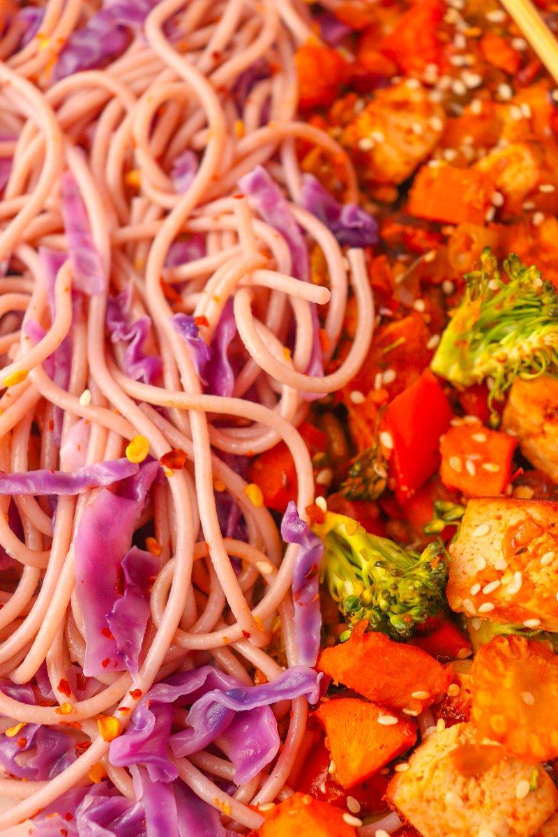 Purple Noodles and Tofu Veggies Stir Fry  Recipe - https://t.co/O8FXjcihUG https://t.co/kbJLadA70I