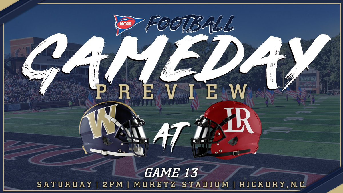 Winners of 7 straight, @WingateFootball looks for its first-ever trip to the Region Finals and first-ever 10-win season, traveling to #17 Lenoir-Rhyne in the 2nd round of the @NCAADII play-offs Saturday at 2!!  PREVIEW   http://bit.ly/WUFBPreviewSemis… #OneDog #WUFB