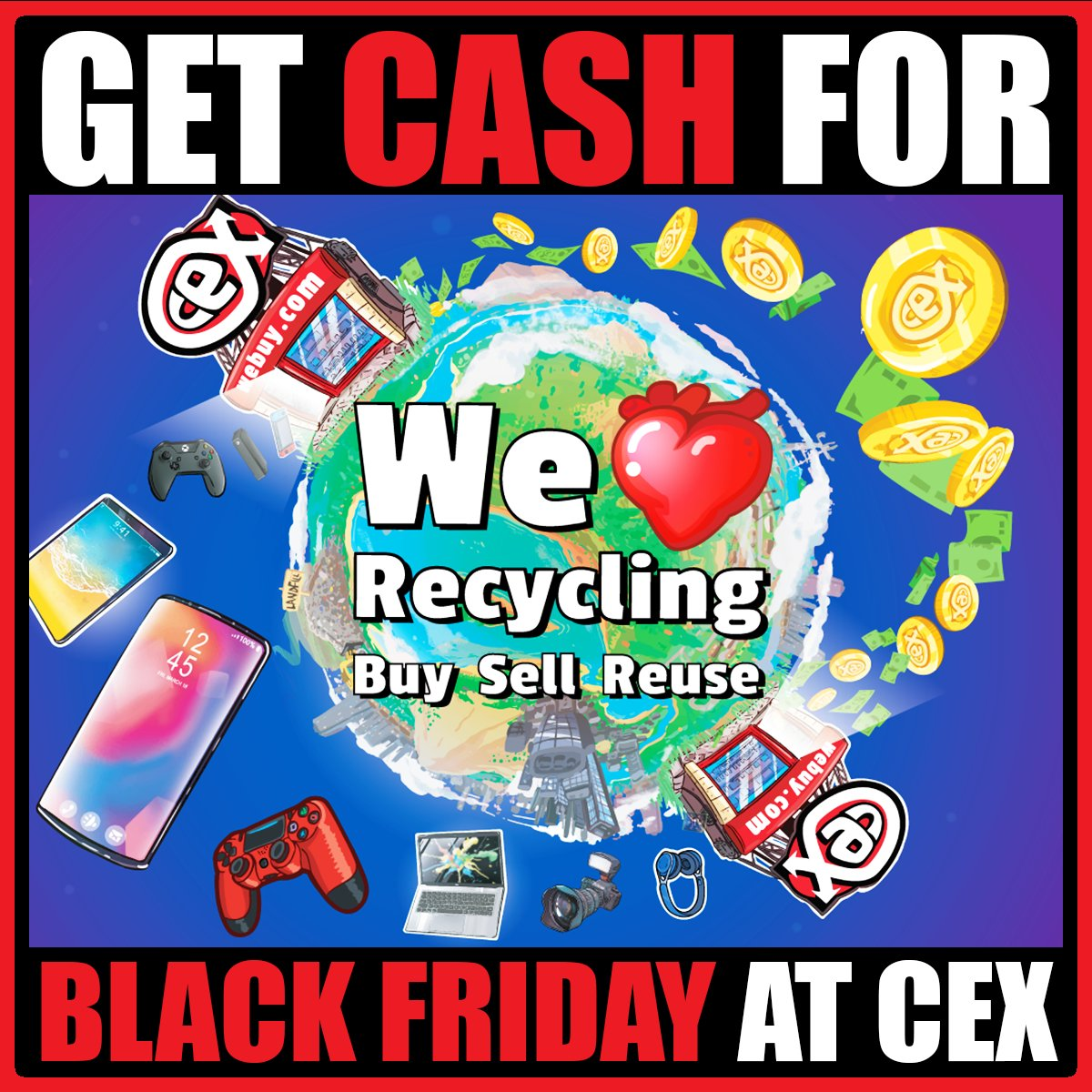 Cex On Twitter Sell Your Games Phones Gadgets To Cex So You Have More Cash To Spend On Those Black Friday Sales Now S The Time To Turn Your Old Gadgets Into