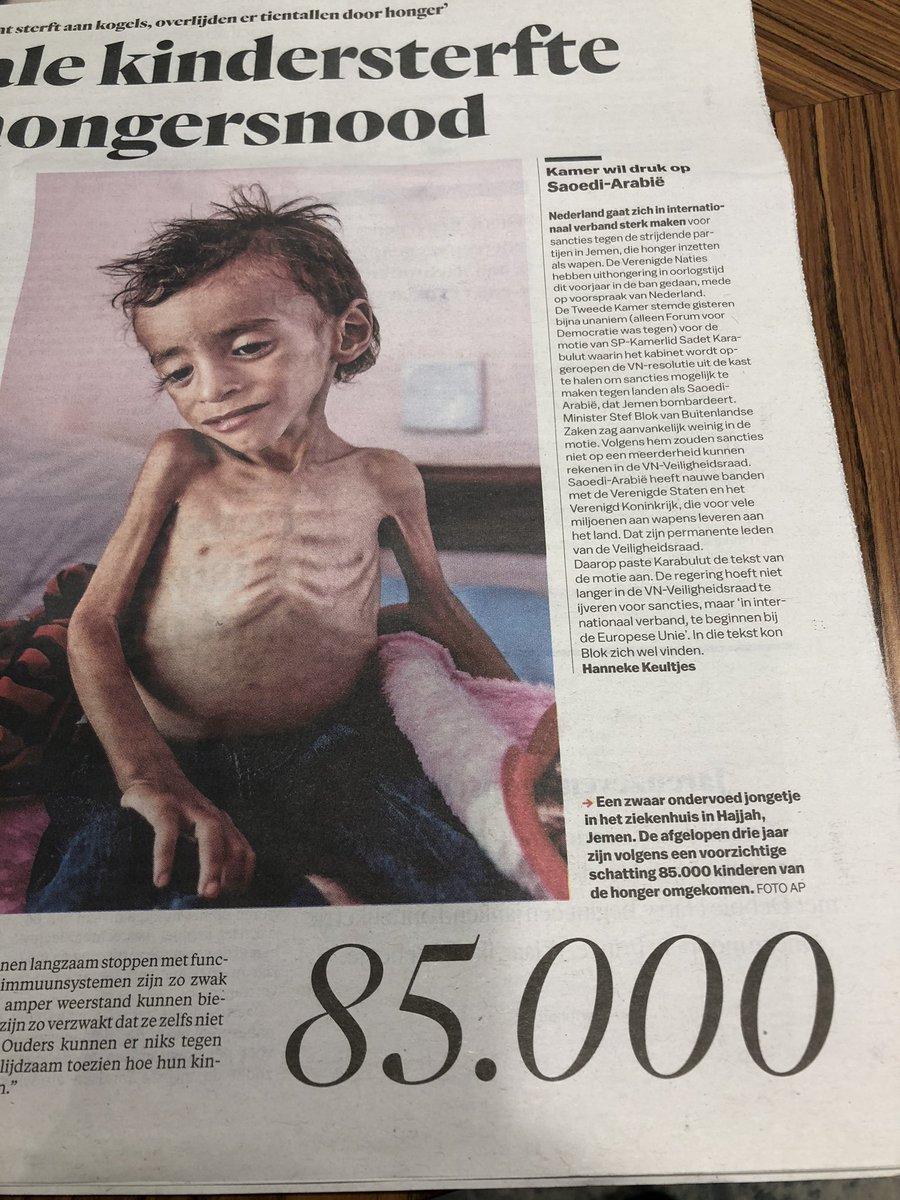 test Twitter Media - De afgelopen drie jaar zijn 85.000 kinderen door hongersnood in Jemen overleden... het nieuws in ons land werd de afgelopen week gedomineerd door de zwarte Piet-discussie. Say no more... https://t.co/jRXXSbEbVo