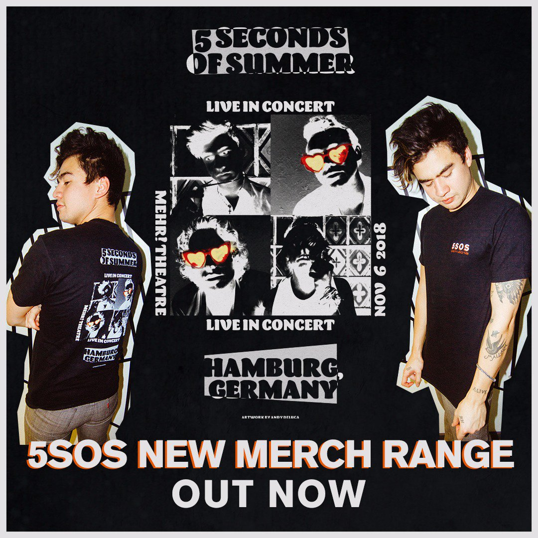 5 Seconds Of Summer On Twitter Our New Merch Is Here Free