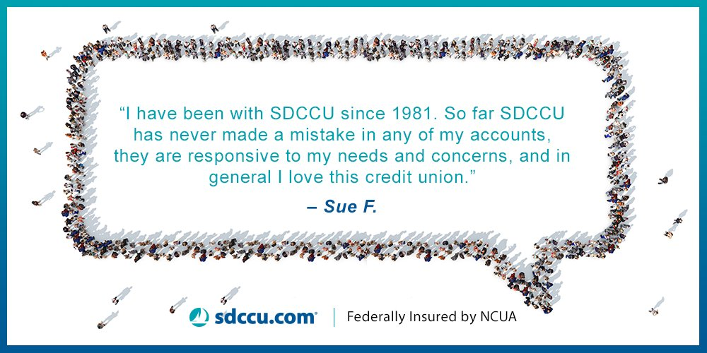 Sdccu Customer Service >> Sdccu On Twitter Thanks Sue F For Your Continued Support