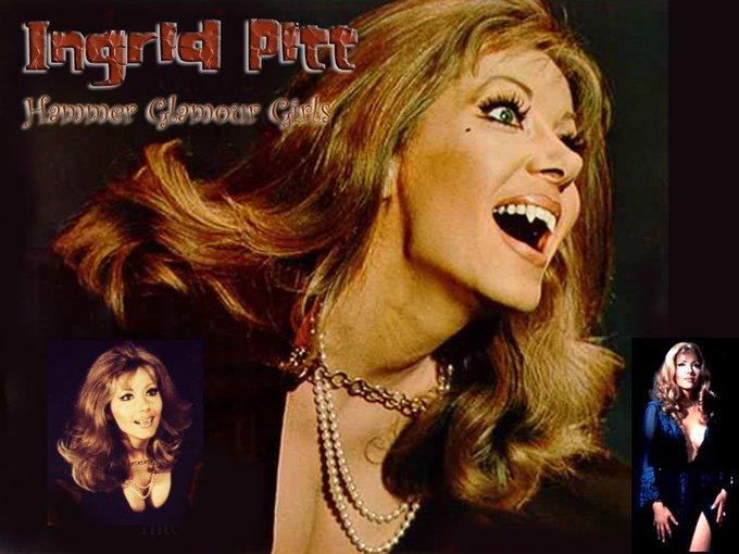 Happy birthday Ingrid Pitt - I love Hammer horror! -