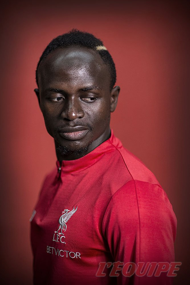 Thanks to an extremely hospitable Sadio Mane today @LFC with @Peminonzio for @lequipe / @welloffside