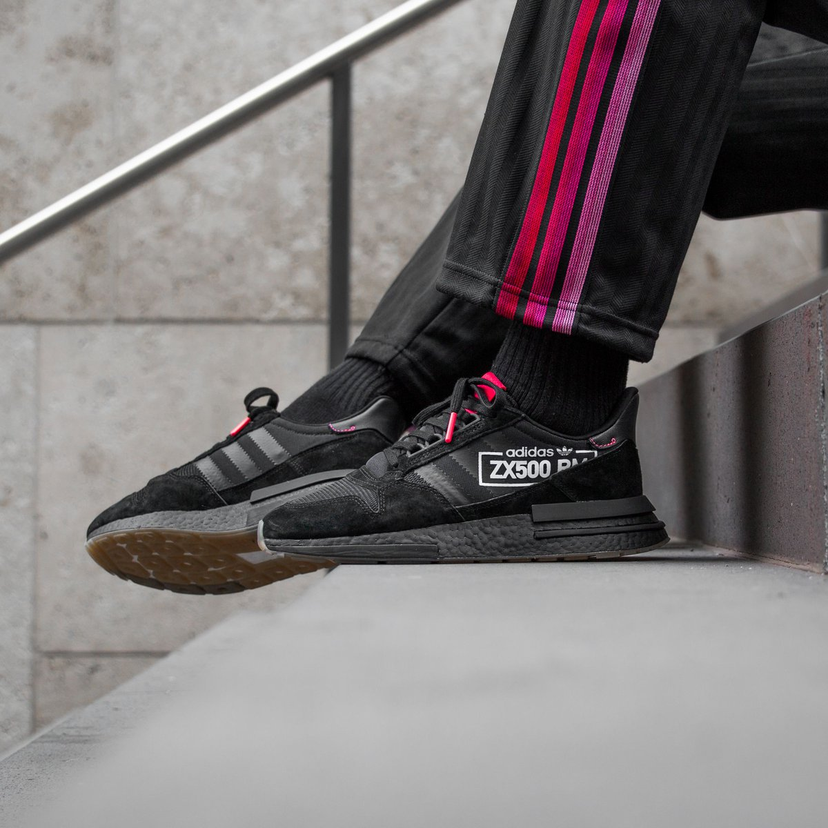 new style 25829 efd77 ONLINE NOW! Adidas Zx 500 Rm - Core BlackCore BlackFlash Red SHOP HERE  httpbit.ly2u0VwPn pic.twitter.comoJalKjwBiF