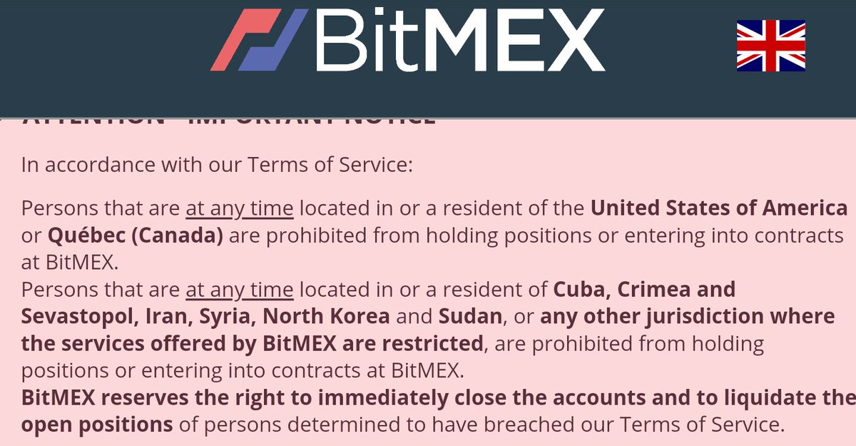 BitMEX Forbidden For US Traders?