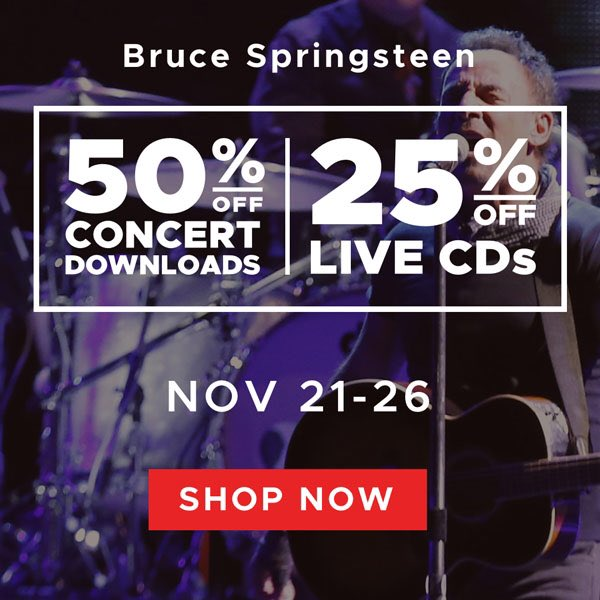 Black Friday Sale: Bruce Springsteen Live Concert Downloads 50% Off