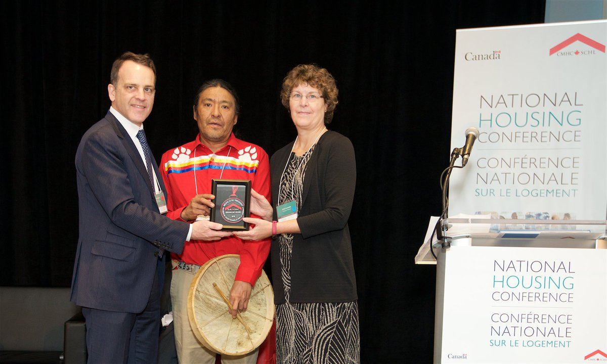 test Twitter Media - Dr. Linda Larcombe, from @umanitoba, and Evan Yassie of the Sayisi Dene First Nation, accepting the President's Medal for Outstanding Housing Research award for their work on Dene perspectives on Healthy Homes. #LetsTalkHousing https://t.co/AaGROwhZES