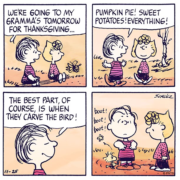 The best part about Thanksgiving dinner is…